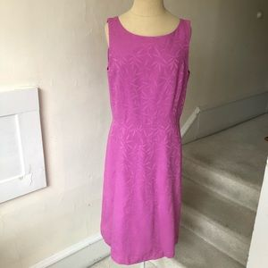 Ann Taylor Leaf Print Cotton Blend Sheath Dress